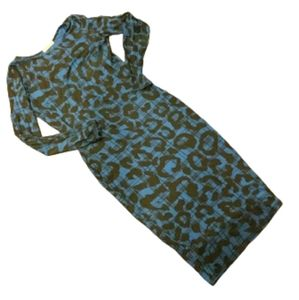 River island black and blue dress